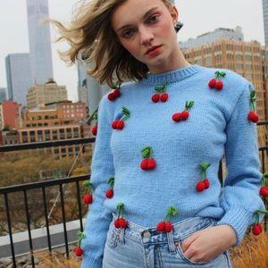 🆕 NWT Lirika Matoshi Cherries Knit Sweater
